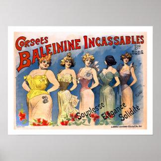 Ladies Corsets Poster
