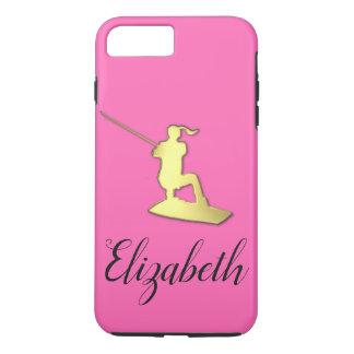 Ladies Custom Golden Wakeboarder Phone Case
