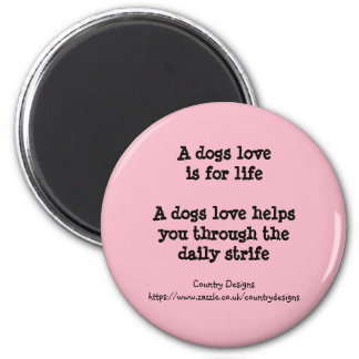 Ladies dog lovers refrigerator magnet