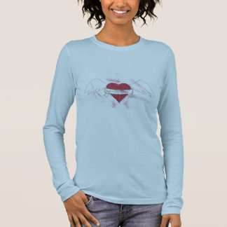 Ladies Dysfunctional Serenity With Flying Heart Long Sleeve T-Shirt