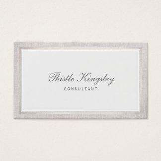 Ladies Elegant Traditional Light Grey Business Card