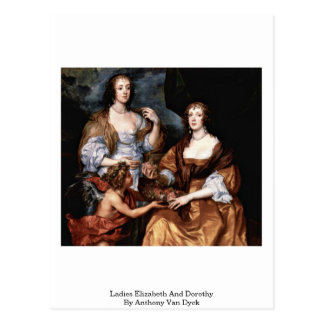 Ladies Elizabeth And Dorothy By Anthony Van Dyck Postcard