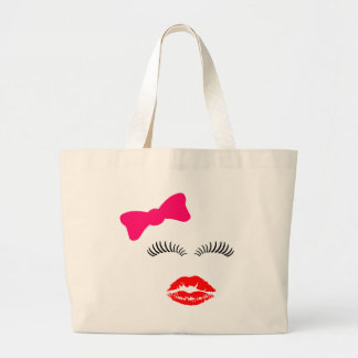 Ladies Eye Lashes LipStick Kiss and Bow Bags