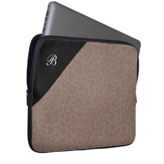 Ladies Fashion Laptop Sleeve Animal Print