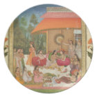 Ladies feasting, from the Small Clive Album Plate
