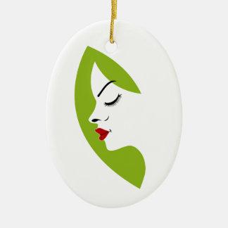 ladies fertility ceramic ornament