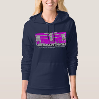 "Ladies Full Throttle Fitness Pink ""Stamp"" Hoodie"