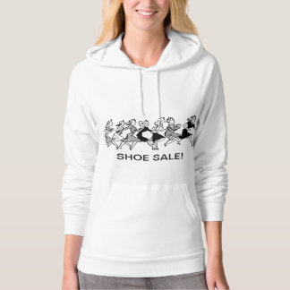 Ladies Funny Shoe Shopping Hoodie