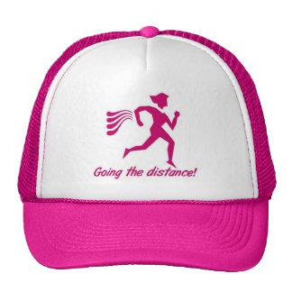 LADIES GOING THE DISTANCE RUNNING CAP MESH HAT