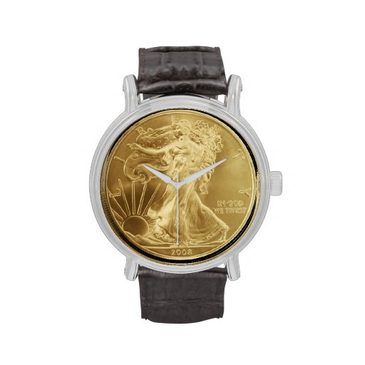 Ladies Gold Dollar Coin Watch