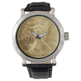 Ladies Gold Dollar Coin Watch