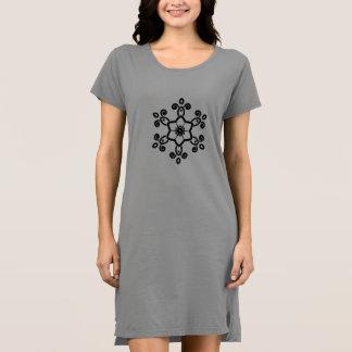 Ladies grey dress with Mandala