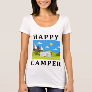 Ladies Happy Camper Scoop T-Shirt