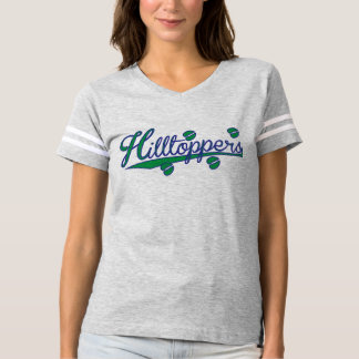Ladies - Hilltoppers logo with Blue & Green T-Shirt
