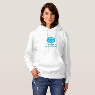 Ladies Hooded sweatshirt Christmas snow flakes