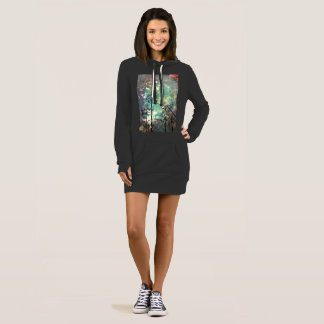 ladies hooded top with cow parsley