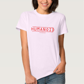 Ladies Humanoid Fitted Top Tee Shirt