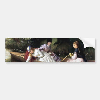 Ladies in a Boat painting Bumper Stickers