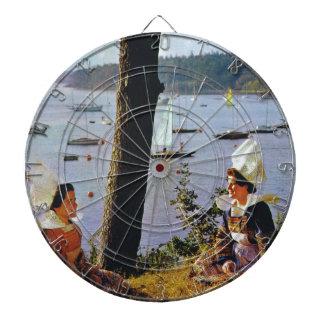 Ladies in Breton costume Dart Boards