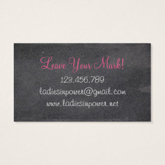 Ladies In Power Business Card