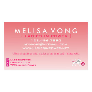 Ladies In Power Modern Business Card