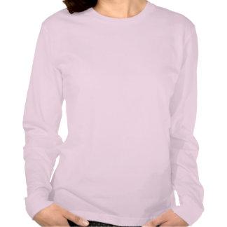 Ladies Long Sleeve (Fitted)  Cute Panda Tee Shirt