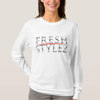 Ladies Long Sleeve Hooded (Fitted) T-Shirt