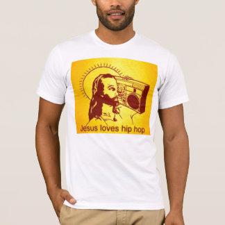 Ladies Long Sleeve Jesus Loves hiphop T-Shirt
