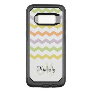 Ladies Monogram Chevron Style OtterBox Commuter Samsung Galaxy S8 Case