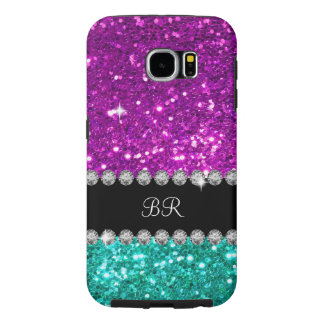 Ladies Monogram Simulated Bling Samsung Galaxy S6 Cases