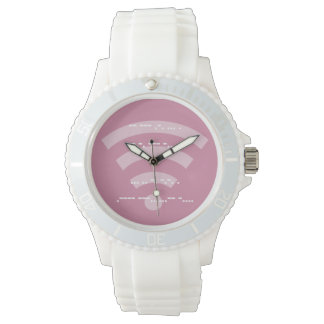 Ladies morse code sporty white silicon watch