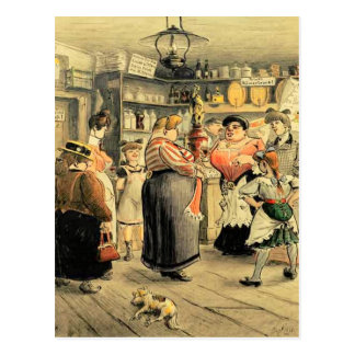 Ladies Night at the Pub Postcard