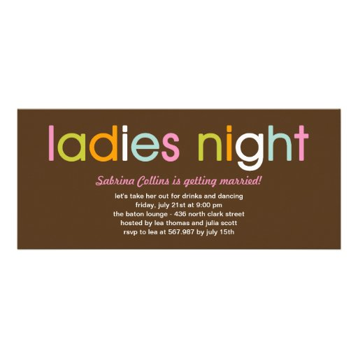 Ladies Night Bachelorette Party Invitation Custom Announcements