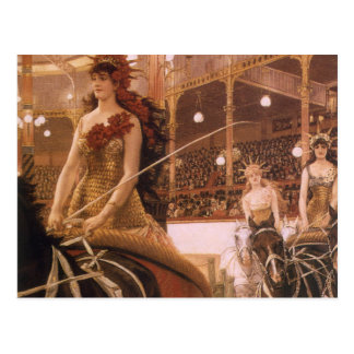 Ladies of the Cars (Circus) by Tissot, Vintage Art Postcard