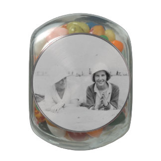 Ladies On Beach Old Image Glass Jelly Belly Jar Jelly Belly Candy Jars