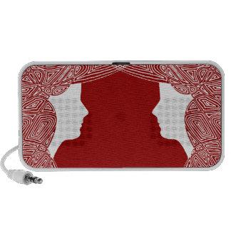 Ladies on Red Mini Speakers