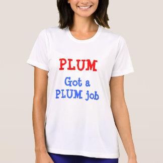 Ladies Performance Micro-Fiber T-Shirt  PLUM JOB
