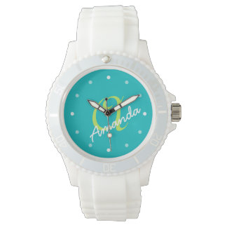 Ladies Personalized Monogram Sporty Watch