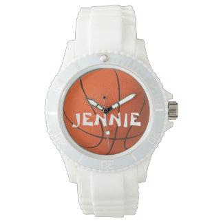 Ladies Personalized Sporty Basketball Watch
