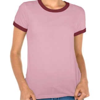 Ladies' Pink and Red Banner Logo Tee Shirts