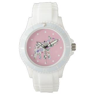 Ladies Pink Elephant Nature Designer Wristwatch