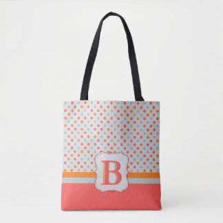 Ladies Polka dotted, Initialed Golf Tote Bag