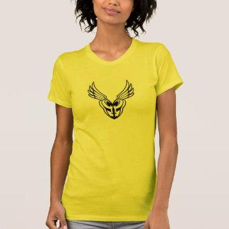 Ladies PoM Black Outline logo T. T-Shirt