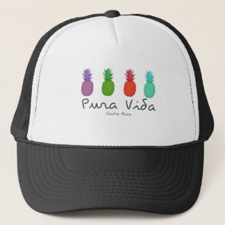 Ladies Pura Vida Pineapples Costa Rica Trucker Hat