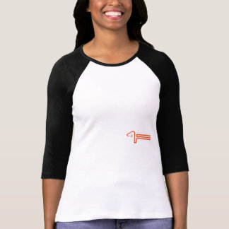 Ladies Raglan shirt with dachshund