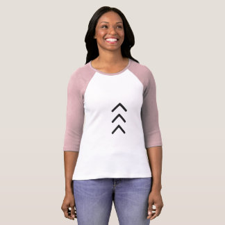 "Ladies Raglan T with large ""lucky few"" arrows T-Shirt"