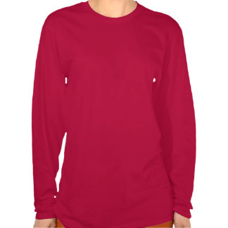 Ladies Red Long Sleeved Photo T Shirts