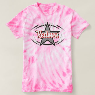 Ladies Redmen Pink Tie Die T-Shirt