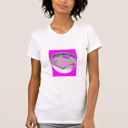 LADIES RUN FOR FUN HOT PINK MICRO-FIBER singlet T-shirt