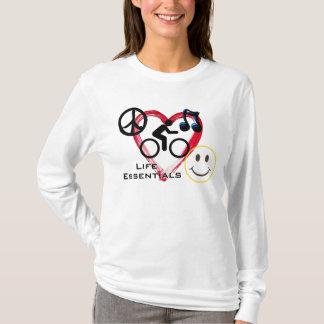 """Ladies' Scoop Hoodie, """"Life Essentials"""" T-Shirt"""